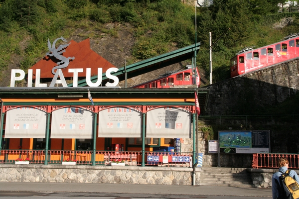 Spodnja postaja zobate železnice na Pilatus