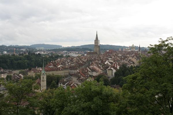 iz Rosengartna je lep pogled na mesto