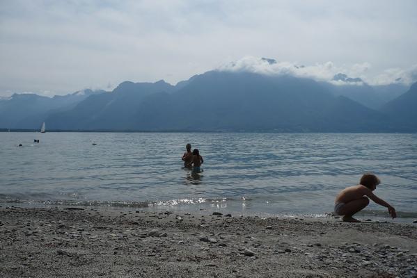 Namakanje v Ženevskem jezeru