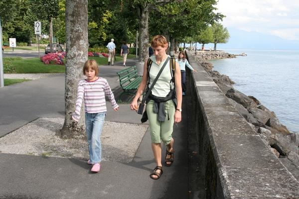 Sprehod ob Ženevskem jezeru