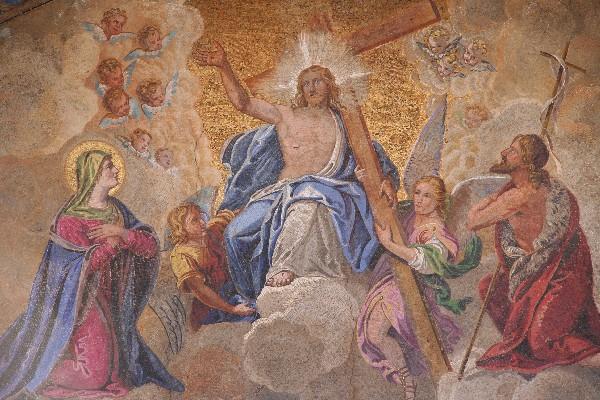 Bazilika je polna mozaikov – tako znotraj kot zunaj
