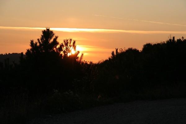 Sončni zahod nad Razdrtim