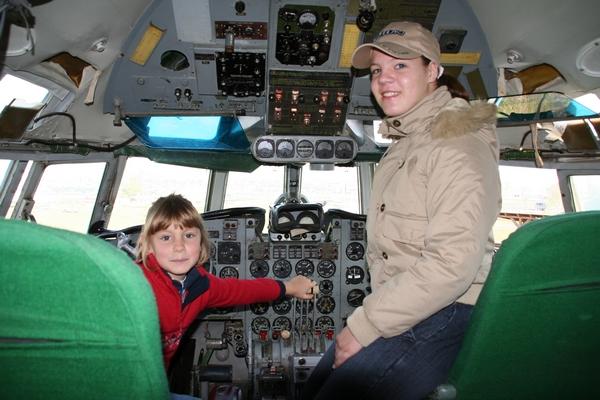 V kabini Iljušina IL-18