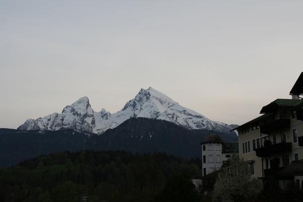 Pogled na Watzman iz Berchtesgadna