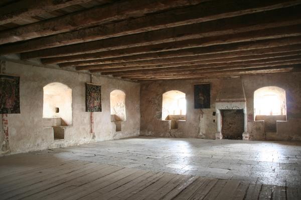 Notranjost hiše je prazna