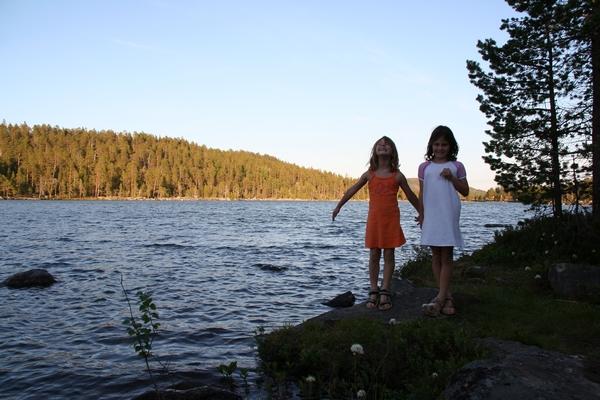 Večerni sprehod do jezera