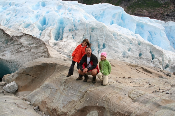 Zglajene skale ob ledeniku
