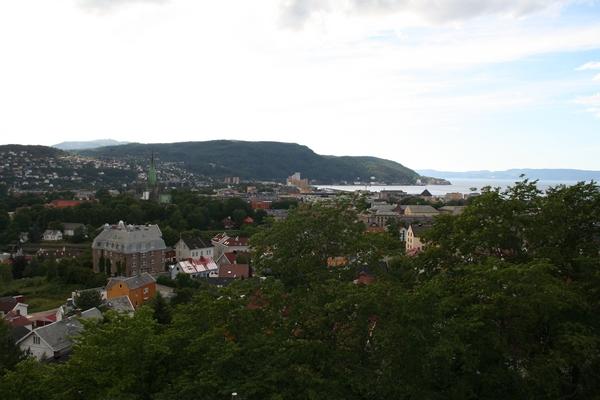 Trondheim iz griča s trdnjavo