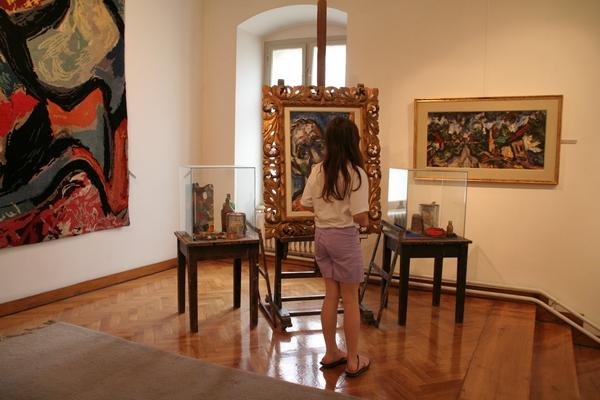 V mestni galeriji so predstavljene slike Milana Konjovića