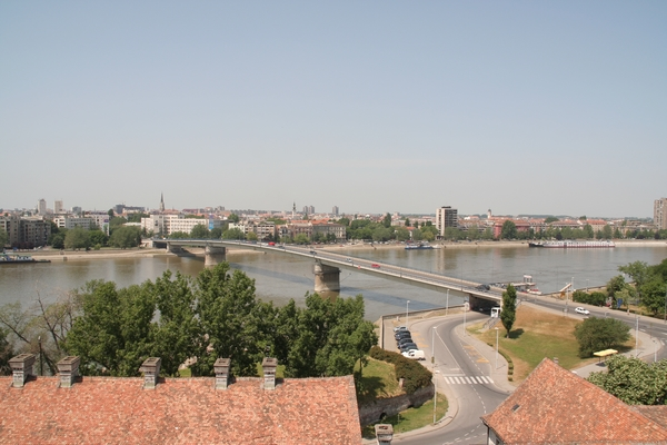 Pogled na Donavo in Novi Sad