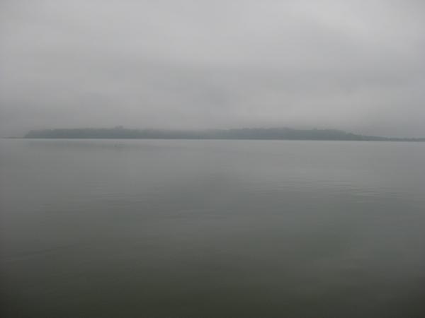 Megleno jutro ob Chiemseeju