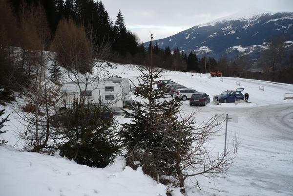 Zgornji del parkirišča