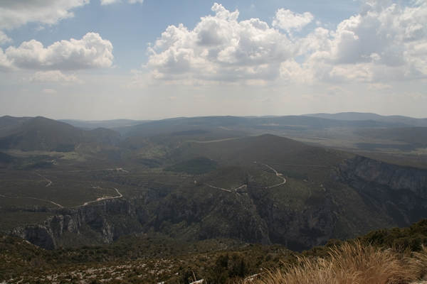Pogled preko kanjona na južno stran