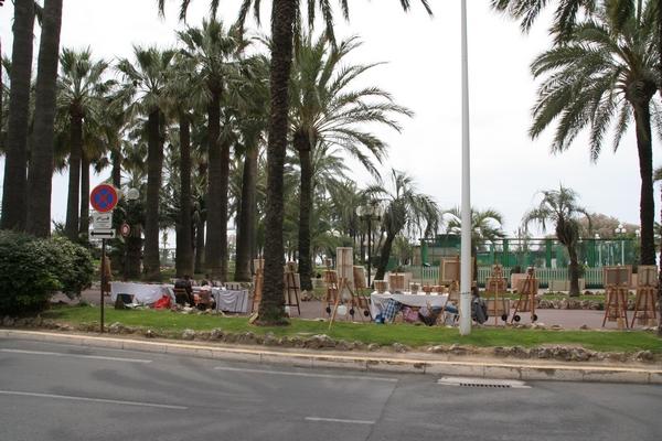 Promenada v Cannesu je prava slikarska kolonija