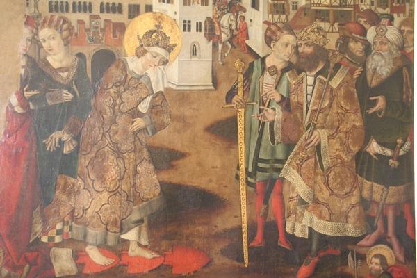 Sv. Kunigunda hodi po žarečil lemežih