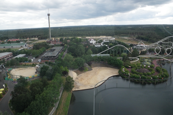 Pogled na park iz Panoramaturma