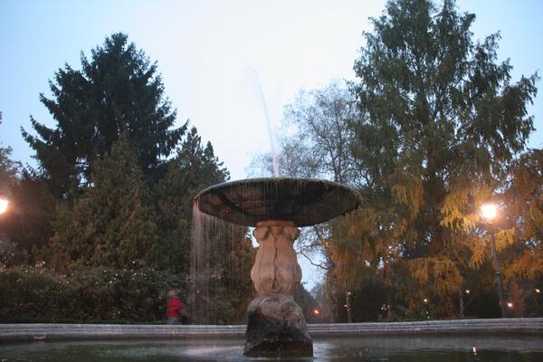 Fontana v parku Massari
