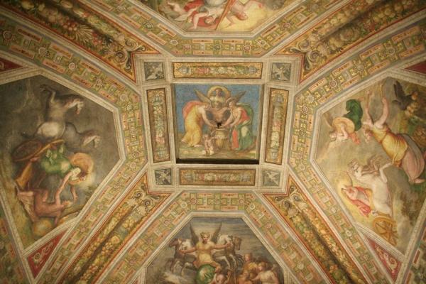 Čudoviti stropi v grajskih sobanah