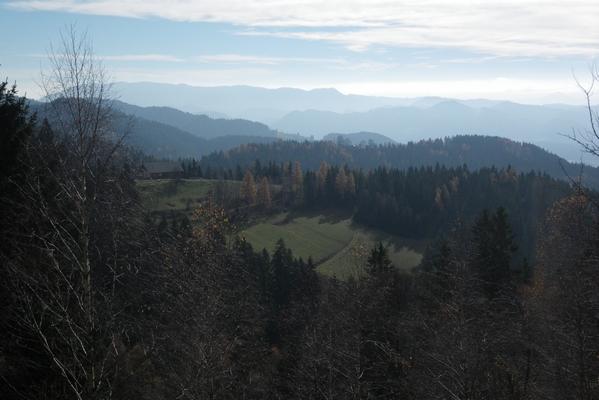 Pogled na raztegnjene grebene