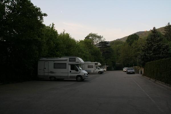 Parkirišče v Hinterbrühlu