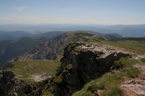 Pogled na Waxriegel z vrha Keisersteina