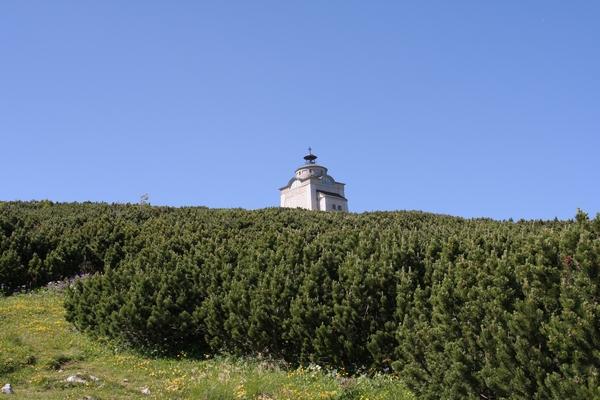 Pogled na Elizabetino kapelo ob povratku