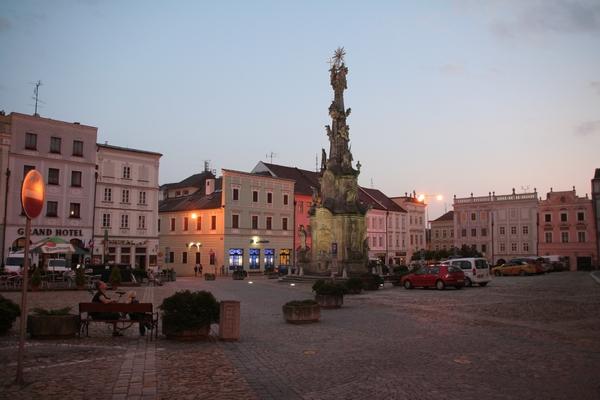 Mestni trg s kužnim znamenjem