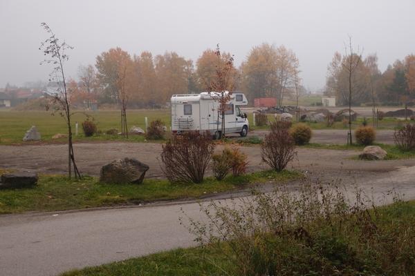 Parkirišče v bližini meje s Češko